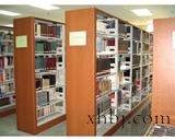 六层双面复柱书架(钢木大包边)