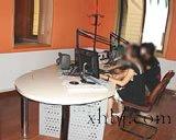 广播室直播桌