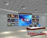 操作台电视墙连体效果图