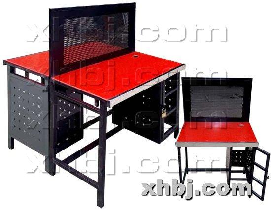 香河板金网提供生产双面挡板网吧桌厂家