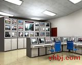 南充电视墙操作台效果图