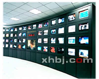 侧弧形电视墙