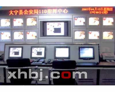江西公安局指挥中心电视墙