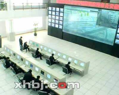 张家港公安局指挥中心操作台