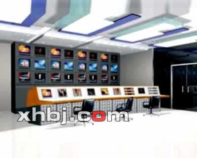 电视墙操作台效果图