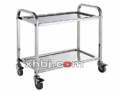 不锈钢加宽两层餐车