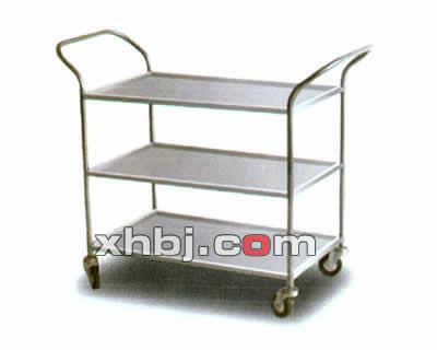 不锈钢加宽三层餐车