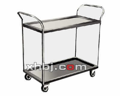 不锈钢简易两层餐车
