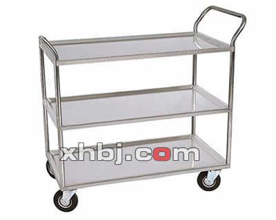 不锈钢简易三层餐车