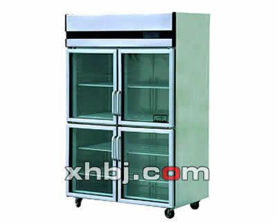 不锈钢四玻璃门展示柜