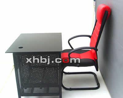 平面单人台(黑色)网吧台