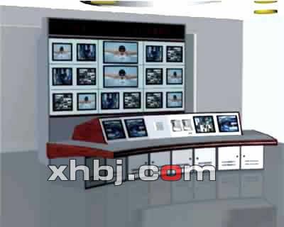 电视墙操作台设计效果图