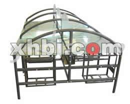 钢化玻璃网吧桌