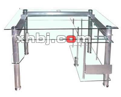 钢化玻璃台网吧桌