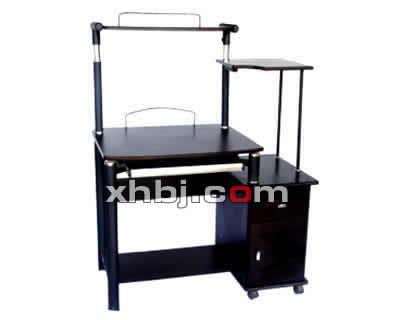 高级钢木钢化玻璃电脑桌