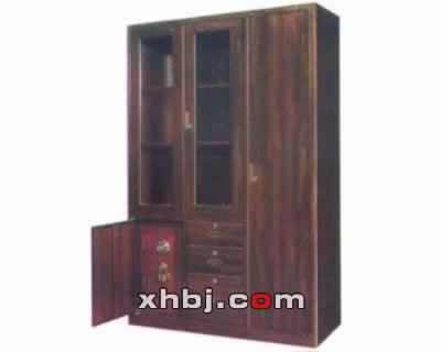 木纹三屉卫生柜(带金柜)