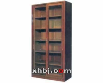 木纹整体大拉门书柜