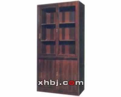木纹整体拉门书柜
