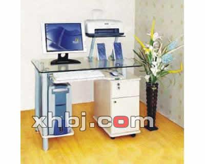 钢化玻璃电脑桌图片
