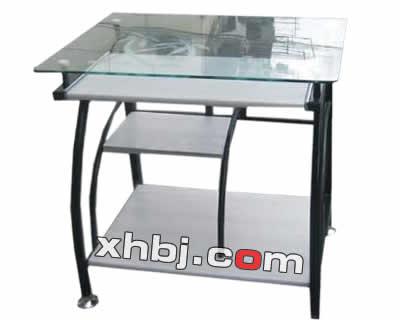钢化玻璃办公桌图片